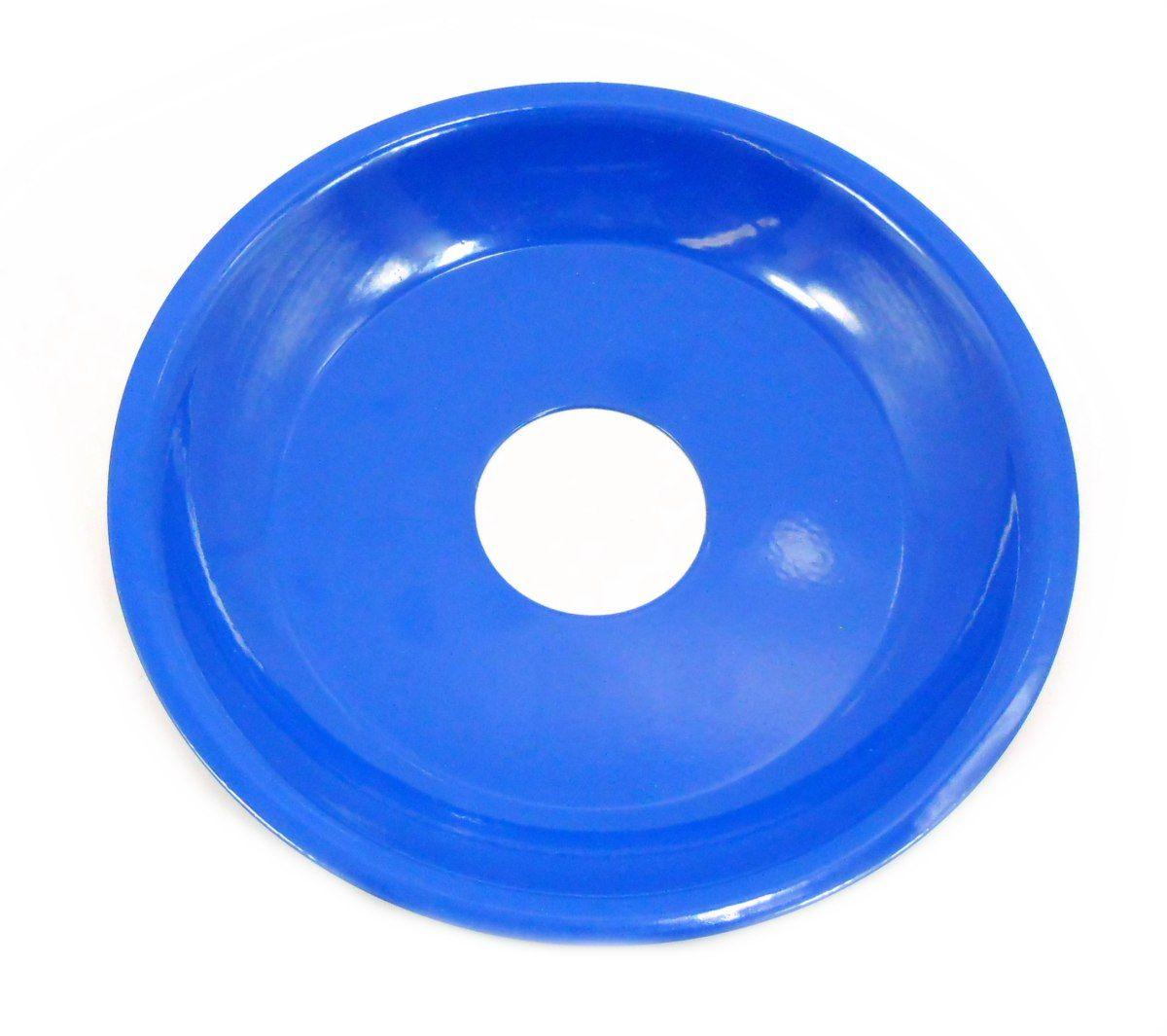Prato para Narguile 15cm de diâmetro, pintado, 4cm de diâmetro furo. Azul escuro