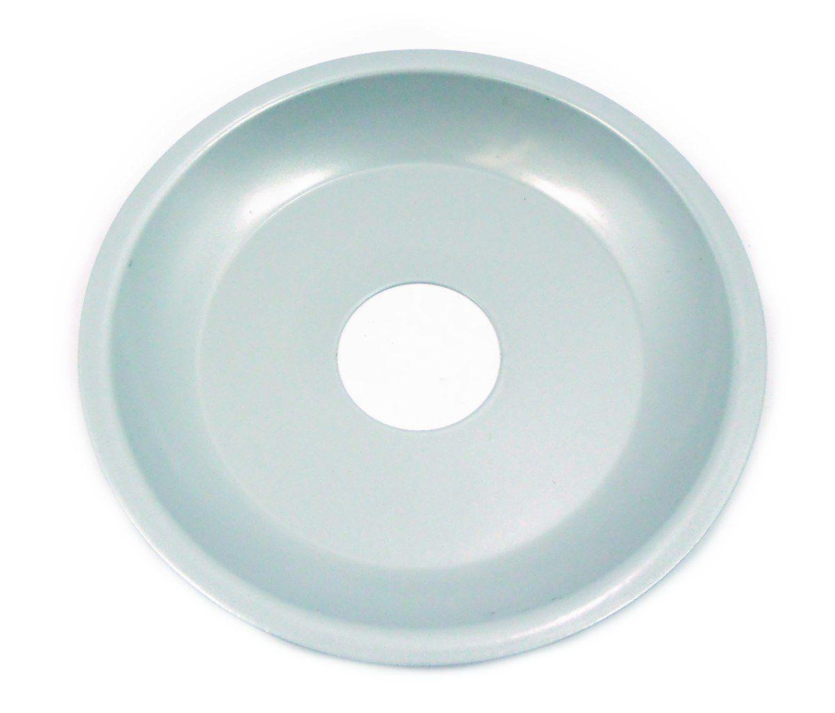 Prato para Narguile 15cm de diâmetro, pintado, 4cm de diâmetro furo. Cinza prateado