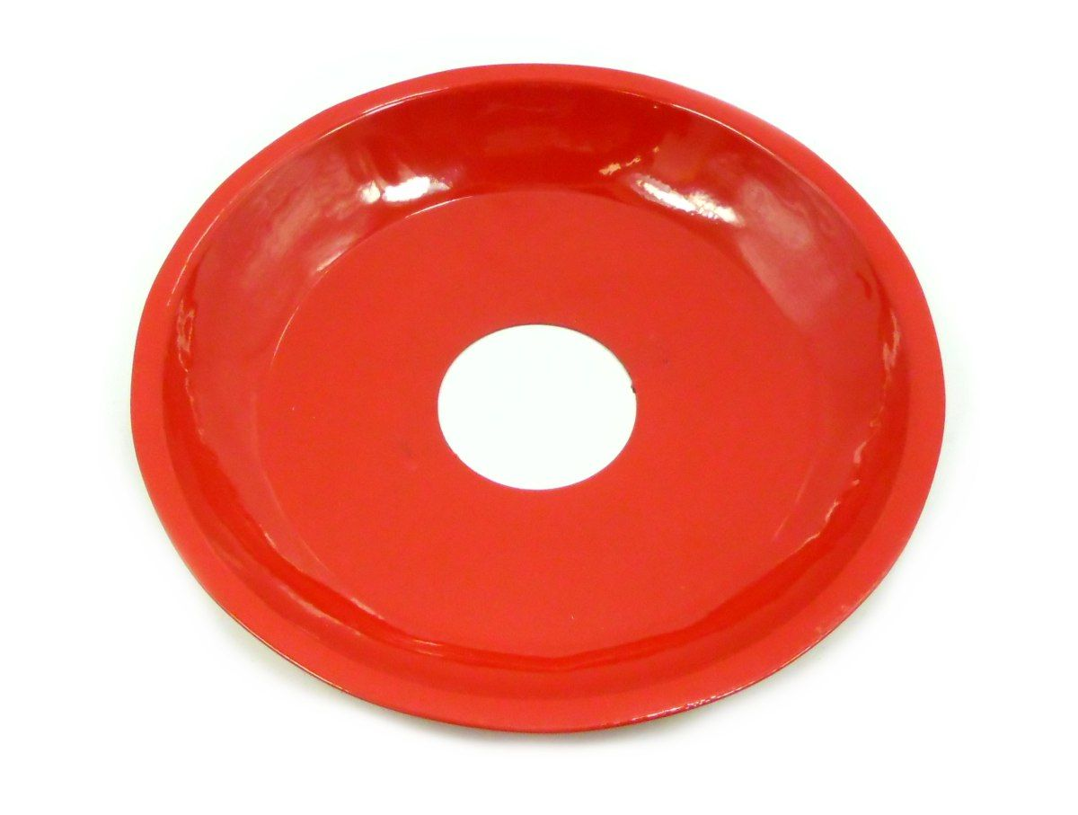Prato para Narguile 15cm de diâmetro, pintado, 4cm de diâmetro furo. Vermelho