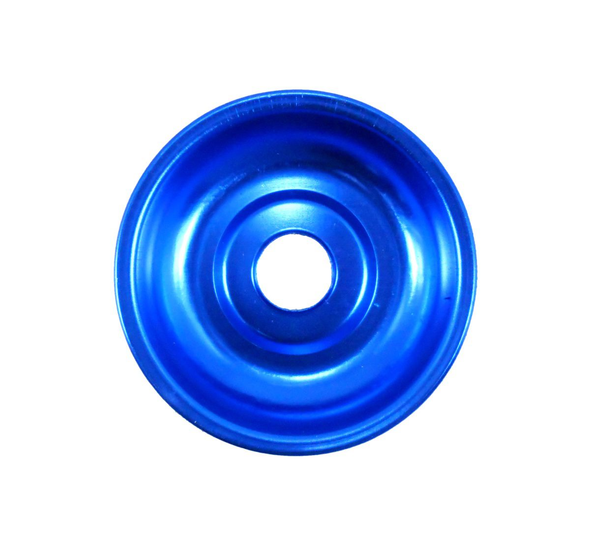 Prato para narguile em alumínio NEW, tamanho pequeno (10,0cm de diâmetro, furo 2,2cm).