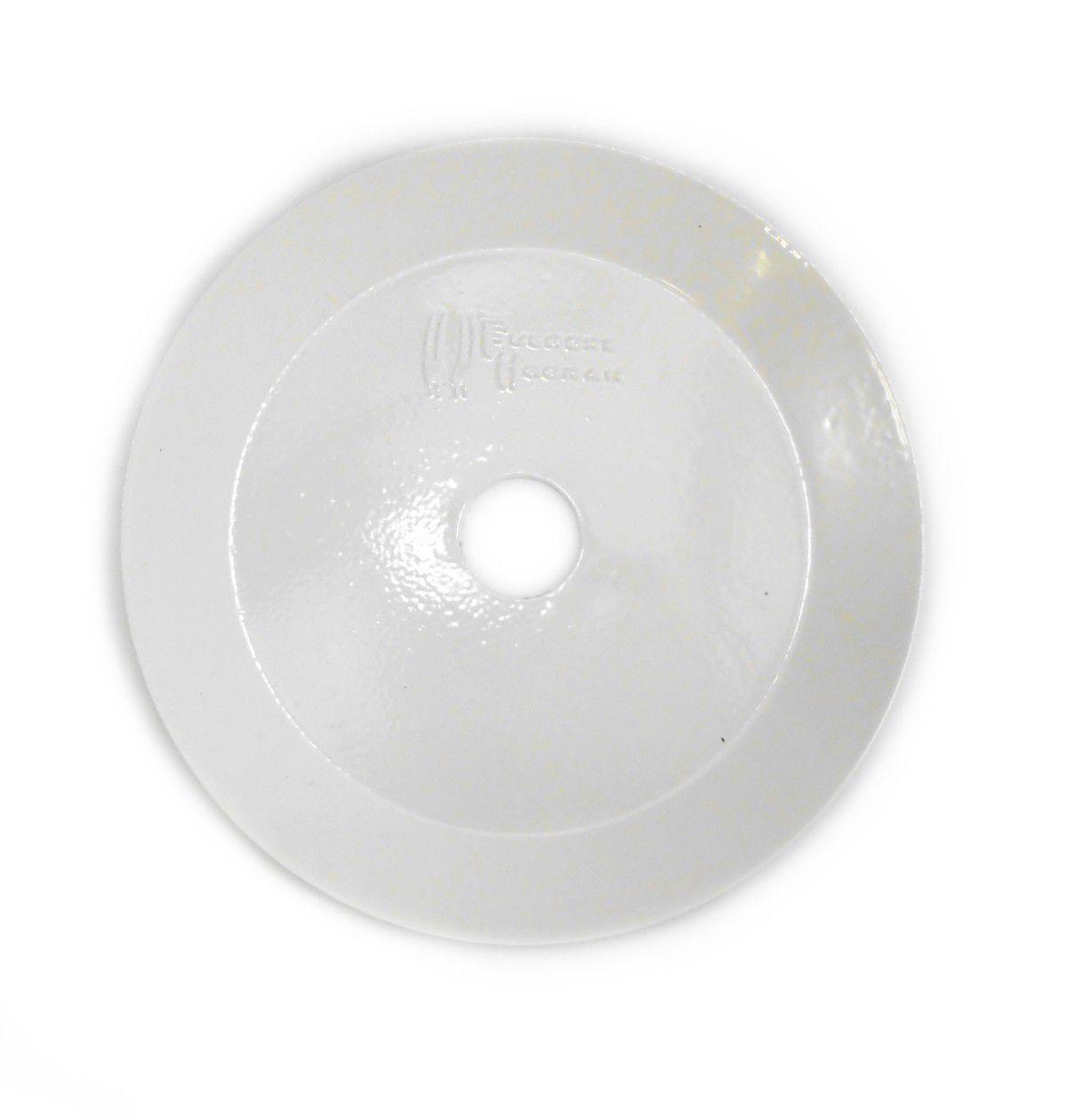 Prato para Narguile marca Fulgore em metal pintado. 15cm de diâmetro, 2,5cm de furo.