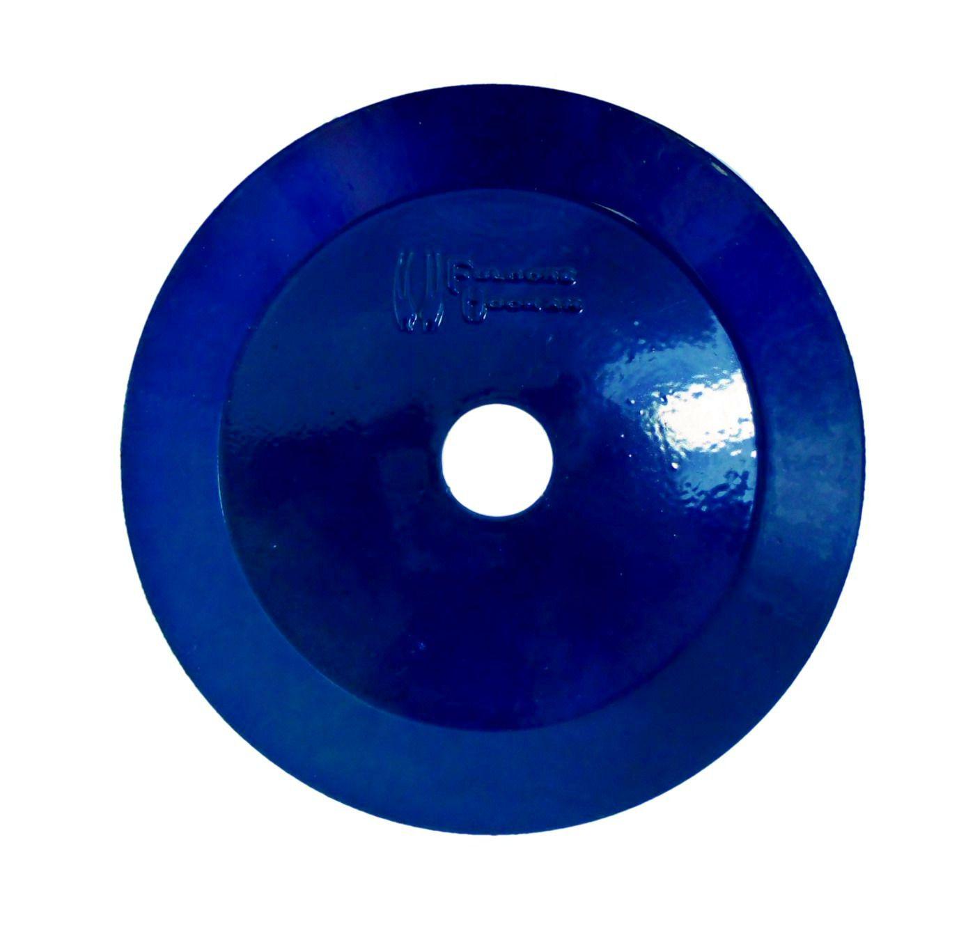 Prato para Narguile marca Fulgore em metal pintado. 15cm de diâmetro, 2,5cm de furo. Azul Escuro