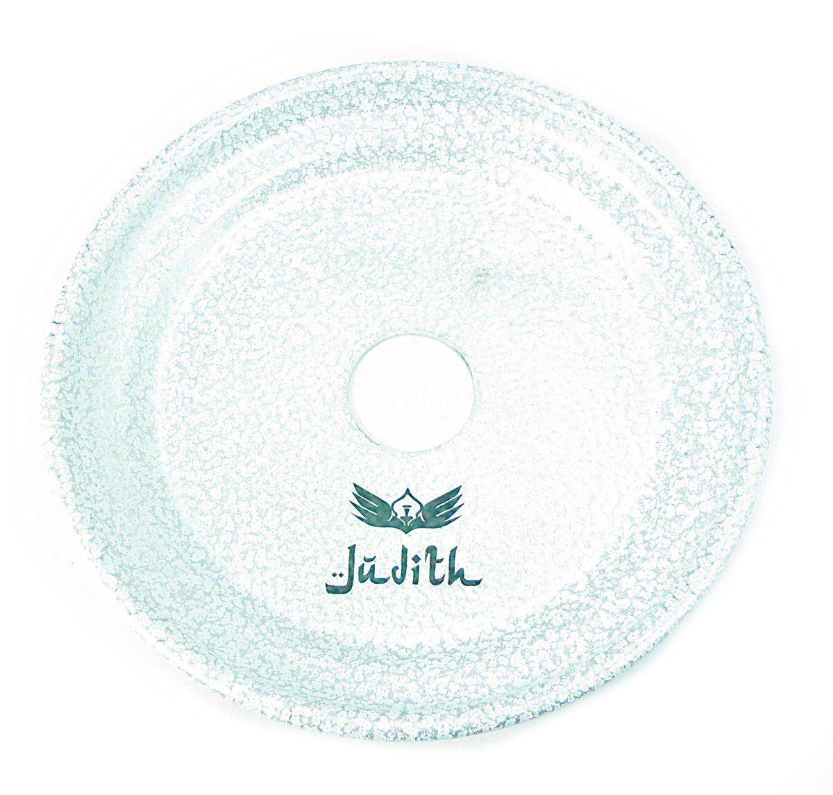 Prato para narguile marca Judith, GRANDE, em alumínio. 17cm de diâmetro. Branco