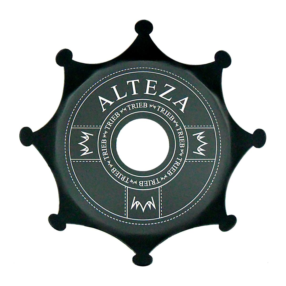Prato para narguile TRIEB ALTEZA, alumínio textura acetinada e pintura anodizada. 18cm diâm.