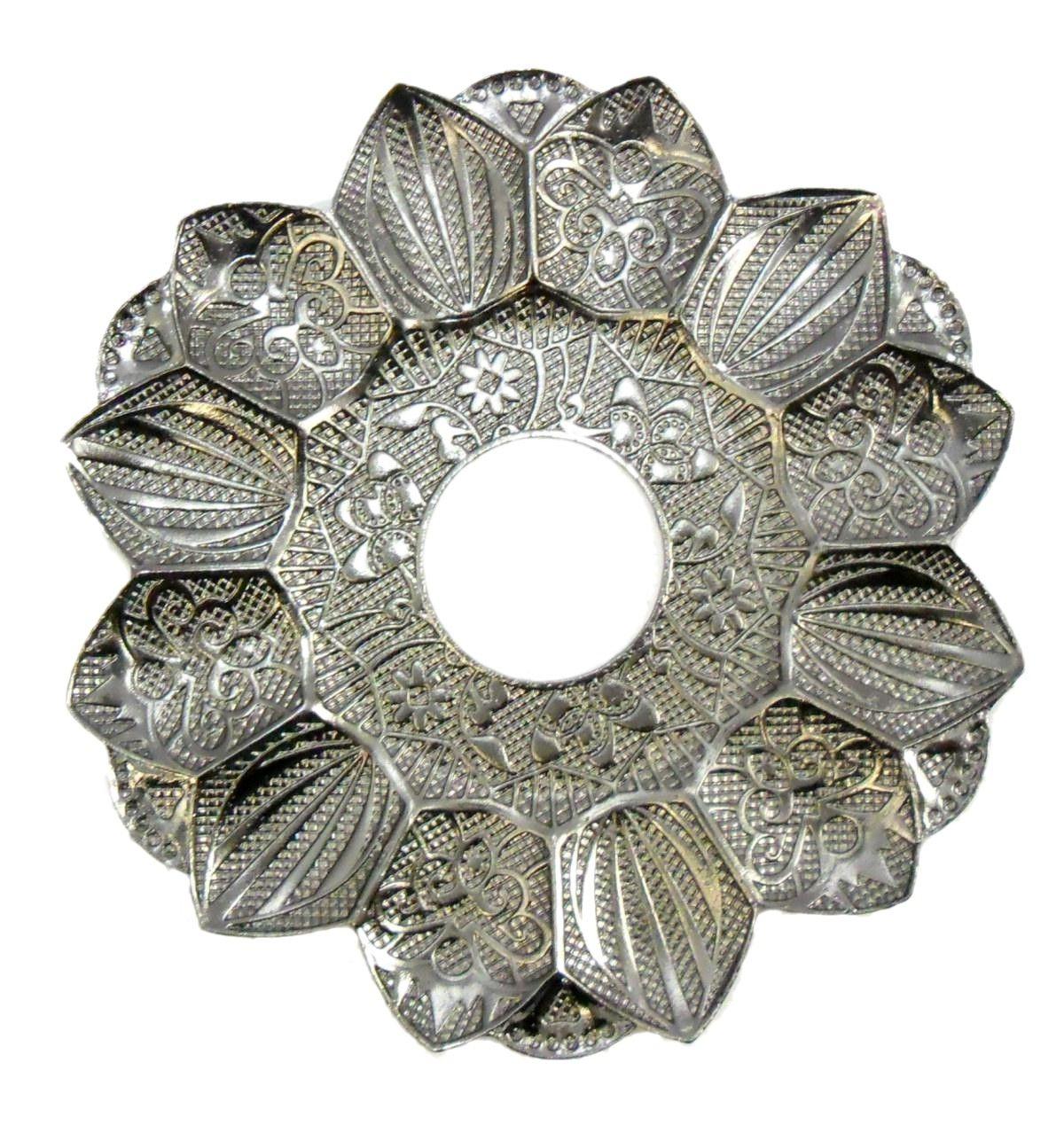 Prato para narguile Yahya, turco, 16,5cm de diâmetro externo e 4,0cm de furo. Preto metálico (fumê)