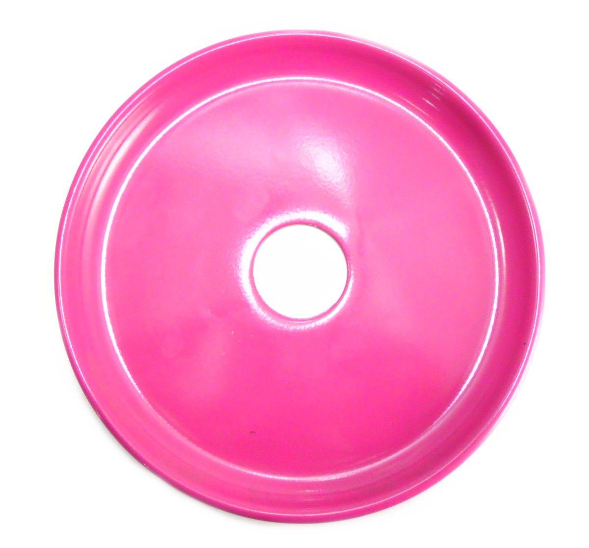 Prato para narguile mod. Wire na cor Rosa, 20cm de diâmetro, furo com 4,7cm de diâmetro.