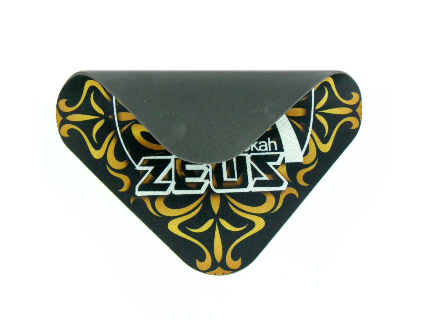 Proteção / tapete para narguile (Shisha Pad) em E.V.A. e tecido, estampa Zeus. Formato quadrado 20cm