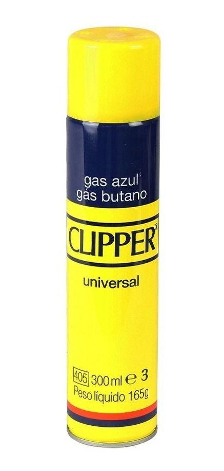 Recarga de gás butano para isqueiro e maçarico marca CLIPPER 300ml.