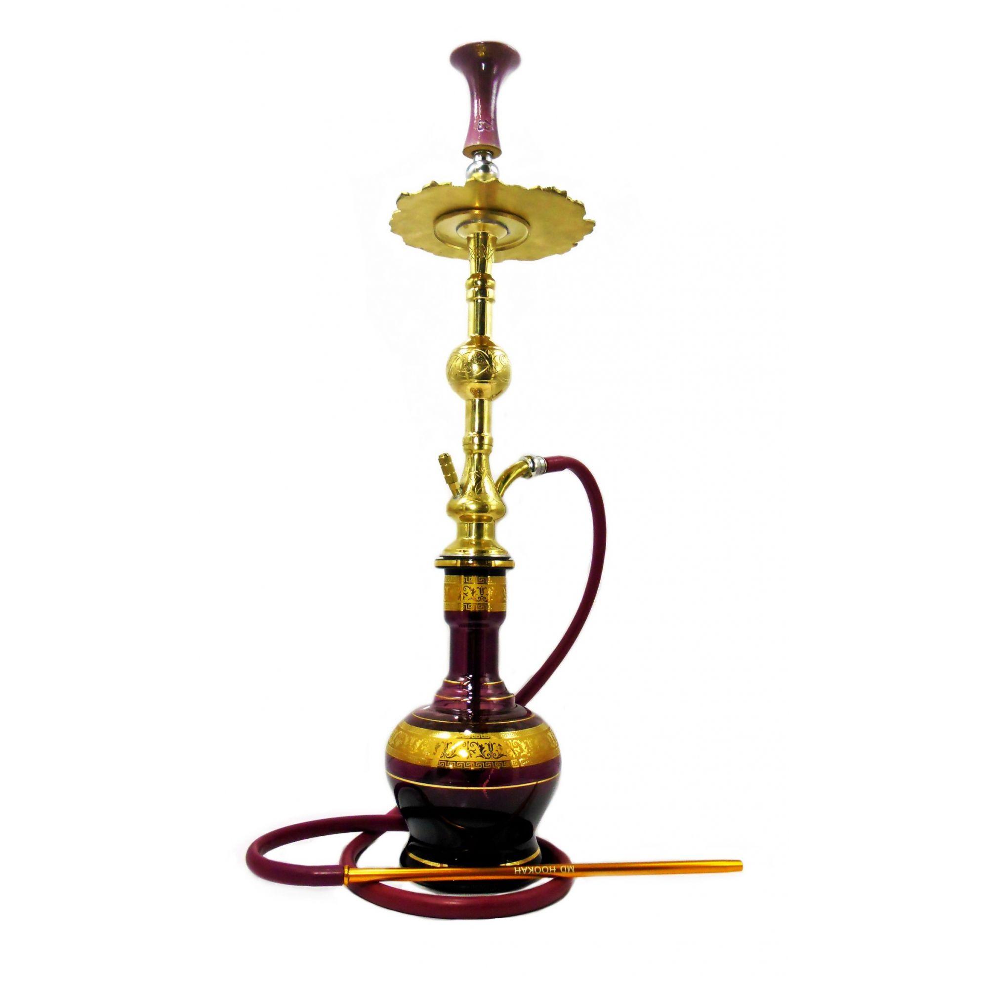 Setup COMPLETO egípcio Royal bronze 86cm, vaso Jumbo, Prato, rosh de barro EZ, mangueira antichamas e vedações.