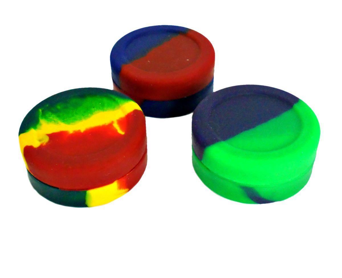 Slick pote em silicone para armazenamento de óleos e extrações (hash oil) 20X44mm Rei do Narguile.