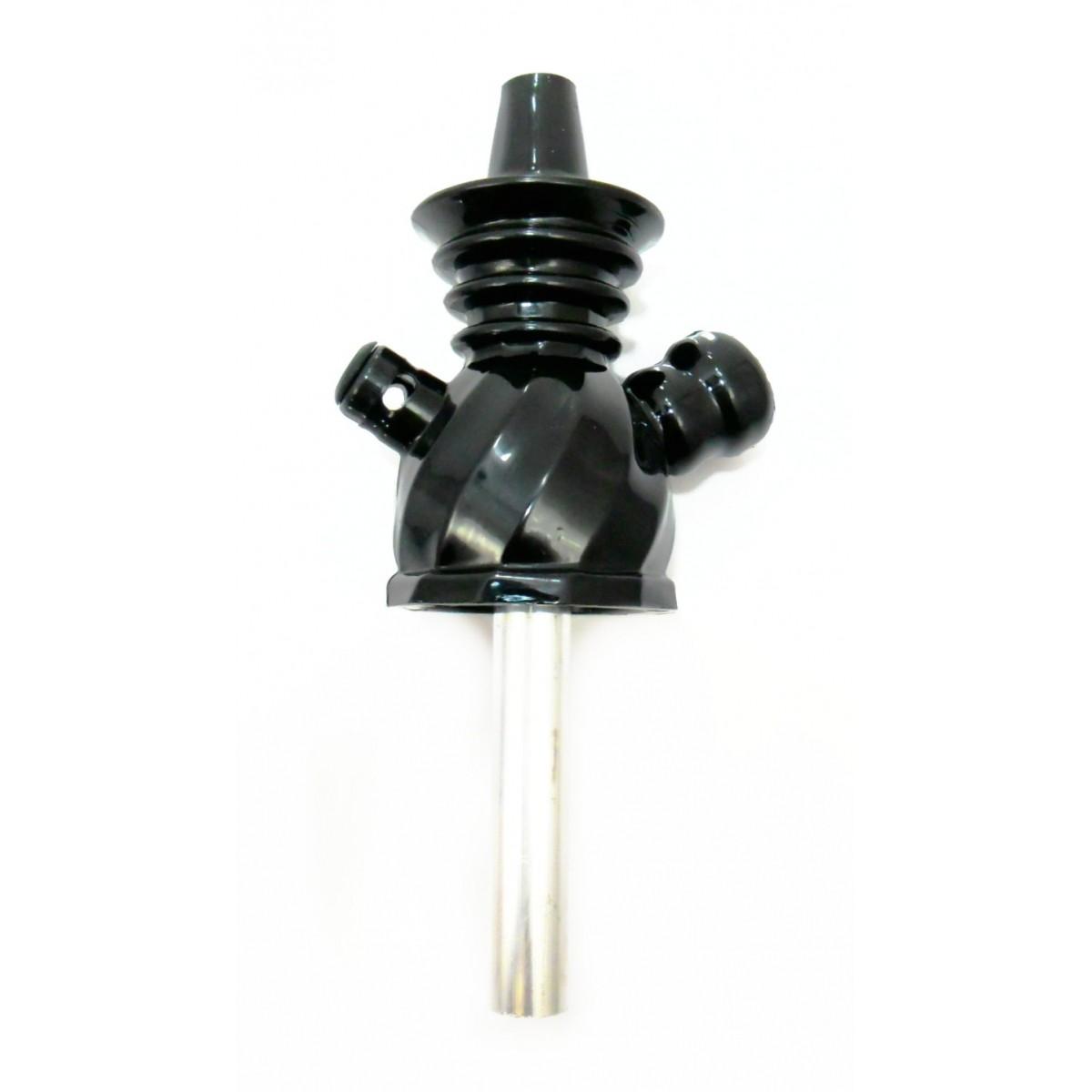 Stem AHALALOUD CONCEPT em polipropileno e alumínio, 20 cm de altura total. AHALALOUD_CONCEPT Cor:Preto
