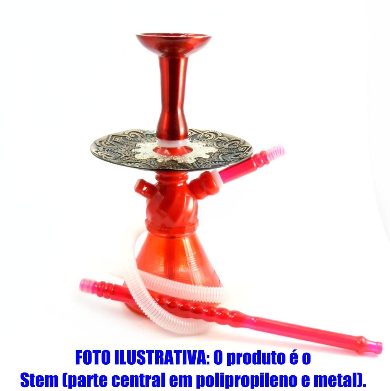 Stem (corpo de narguile) AHALALOUD CONCEPT em polipropileno e tubo interno alumínio. Cor:Vermelho