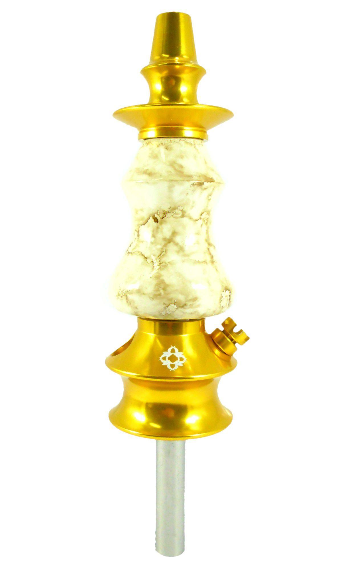 Stem (corpo de narguile) Amazon Prime, cor Marble Gold.