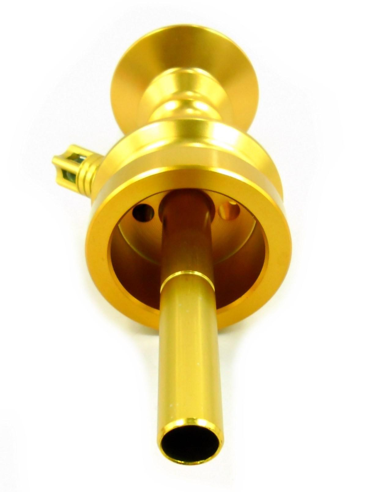 Stem (corpo de narguile) ANUBIS LITTLE MONSTER, em alumínio maciço, 22 cm. Cor:Dourado