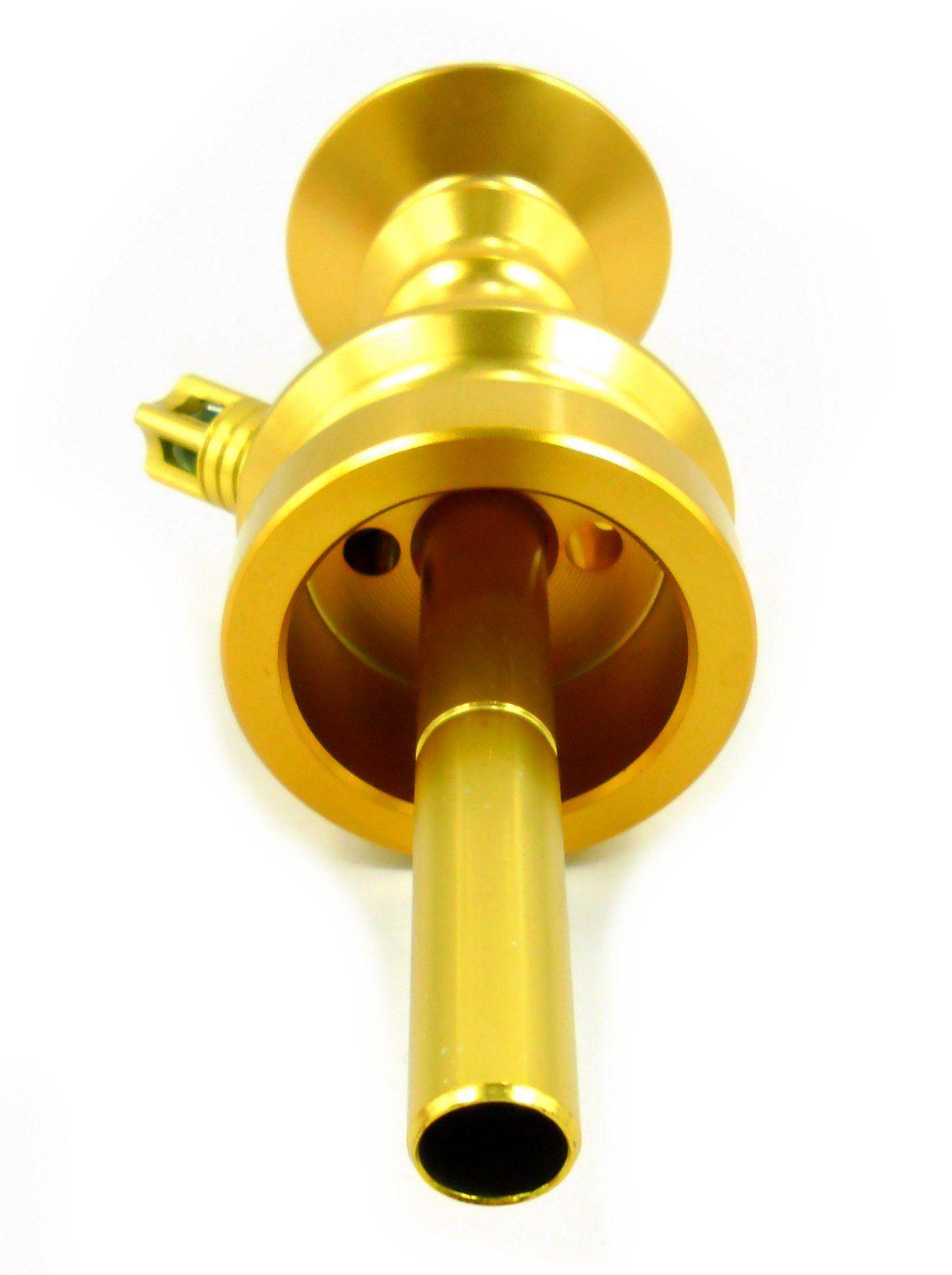 Stem (corpo de narguile) ANUBIS LITTLE MONSTER, em alumínio maciço, 22 cm. Dourado