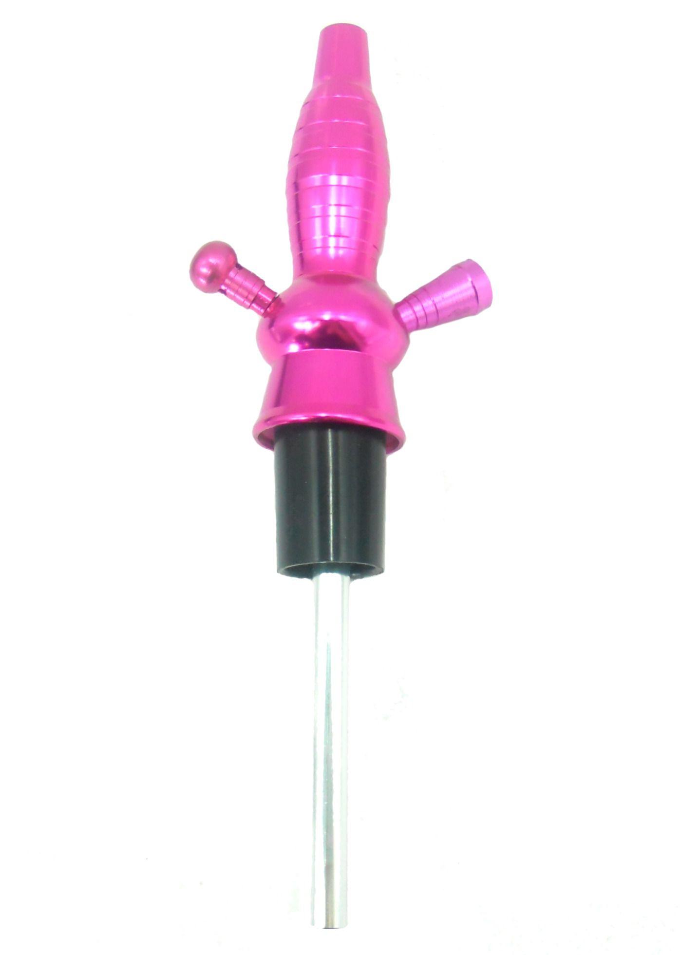 Stem (corpo de narguile) em alumínio marca NEW p/NARGUILE DE GARRAFA + Downstem (tubo interno). 31cm