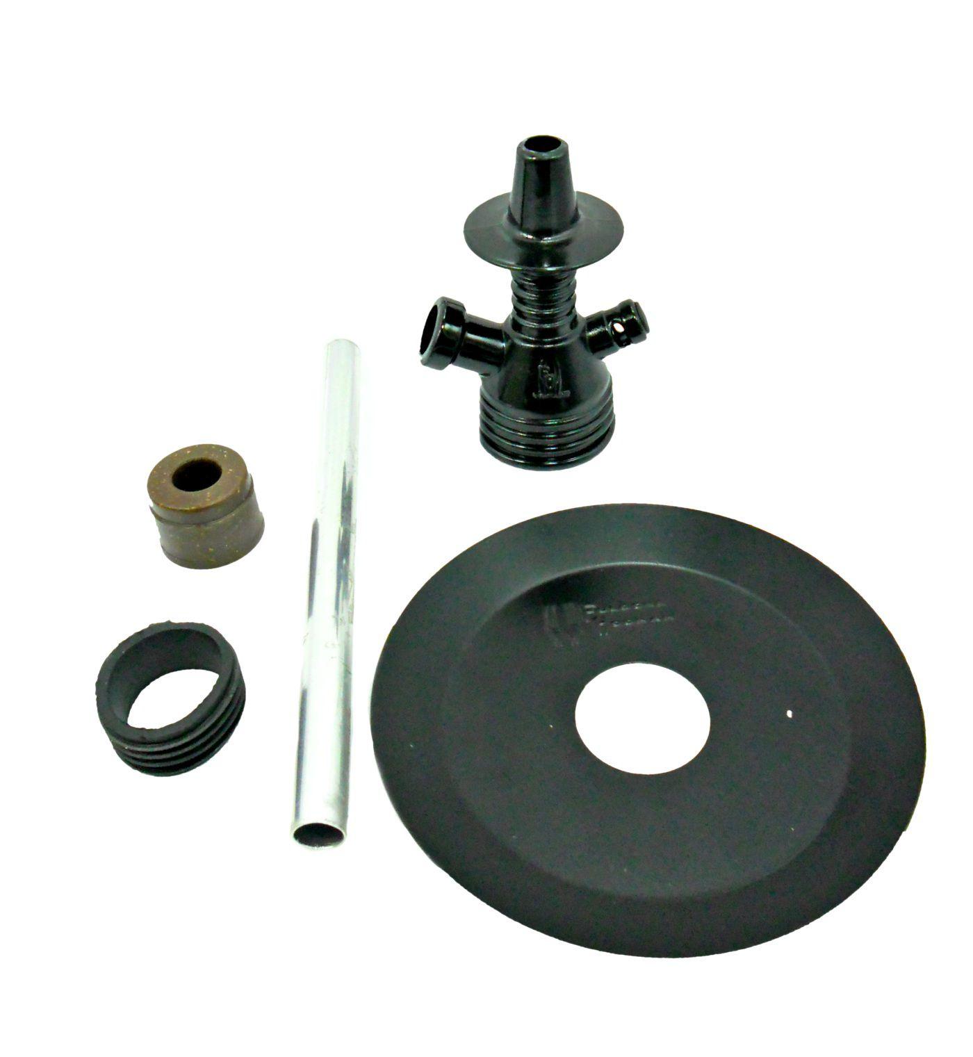 Stem (corpo de narguile) Fulgore polipropileno p/montar em garrafa. Stem, tubo, prato e vedação.
