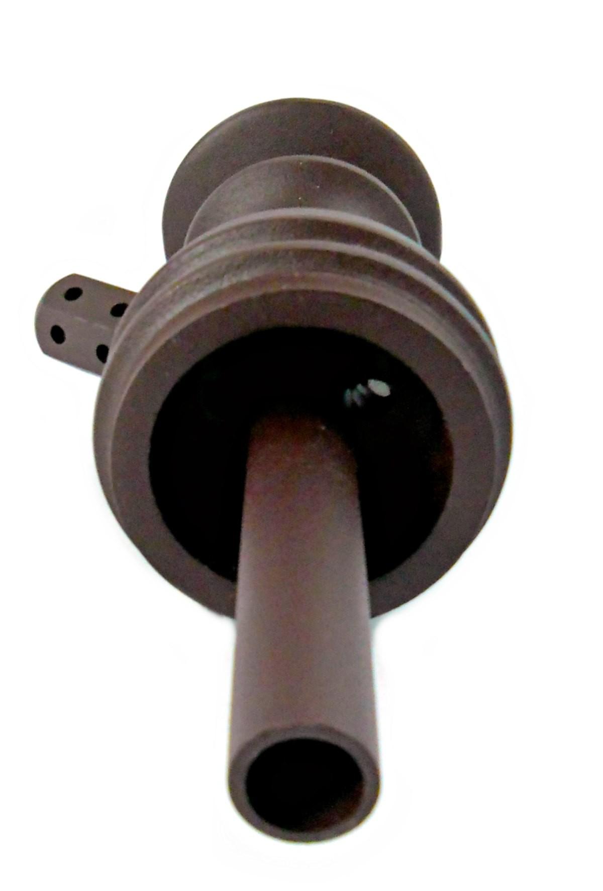 Stem (corpo de narguile) JUDITH MARROM (CAFÉ) 22cm., inox (alumínio), dutado e usinado.