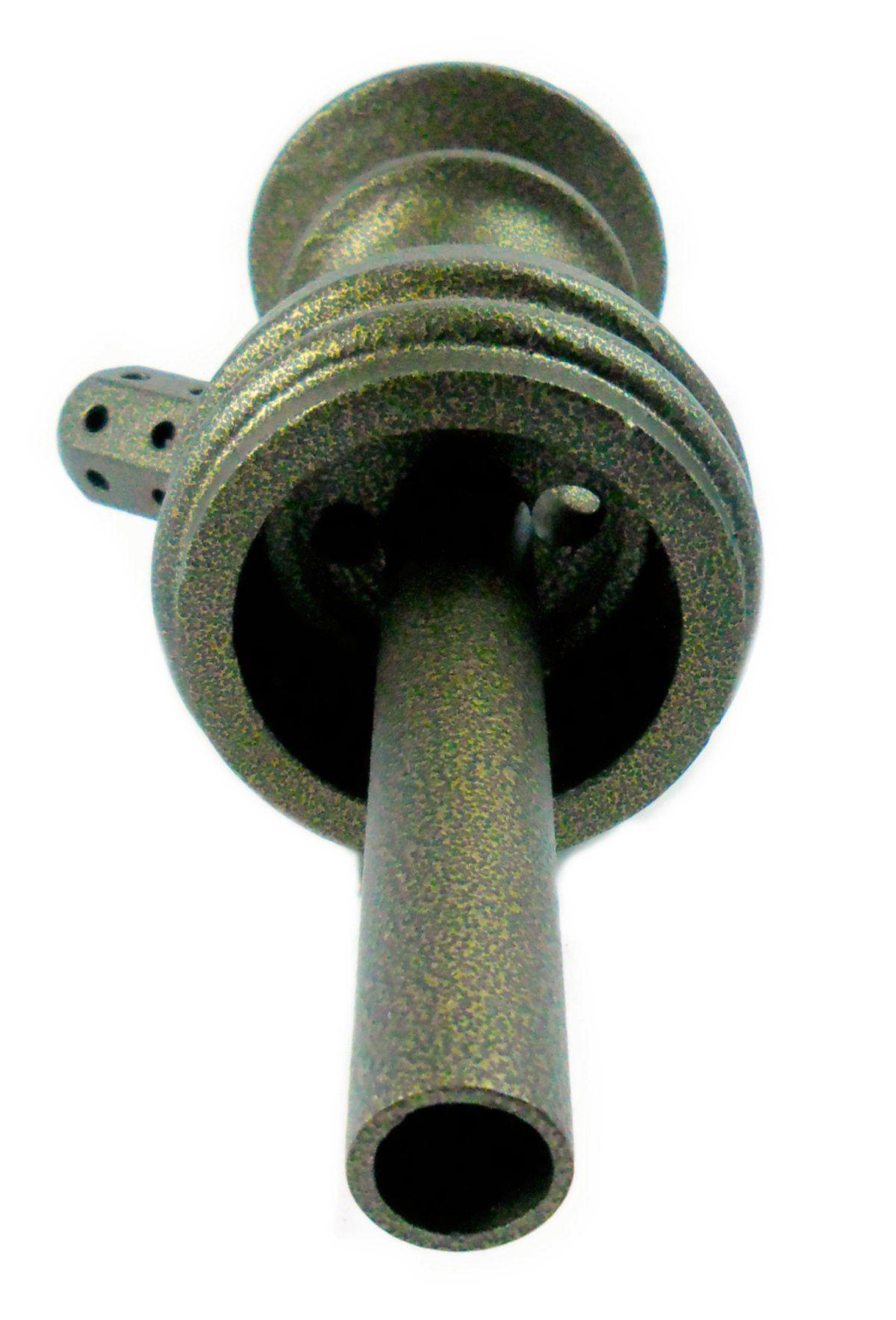 Stem (corpo de narguile) JUDITH OURO VELHO 22cm., inox (alumínio), dutado e usinado.