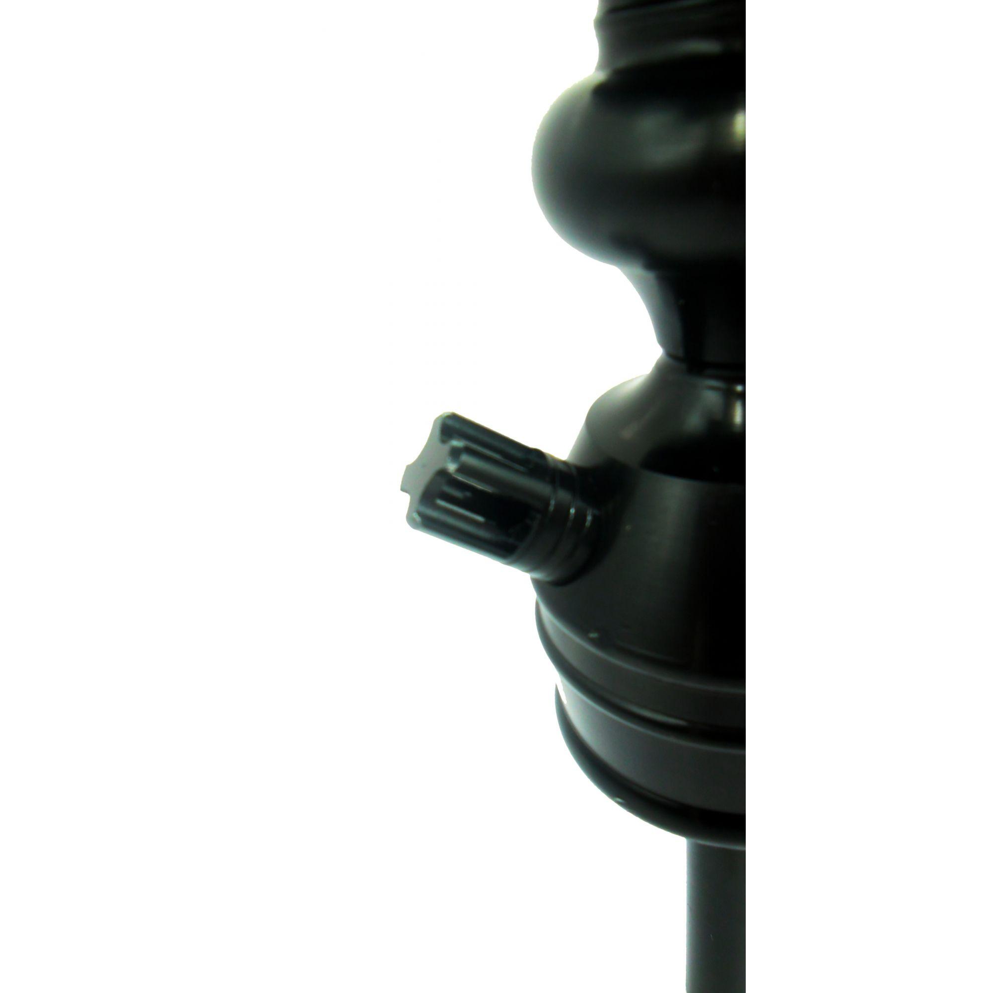Stem (corpo de narguile) REI DO NARGUILE, em alumínio maciço, 22cm, preto.