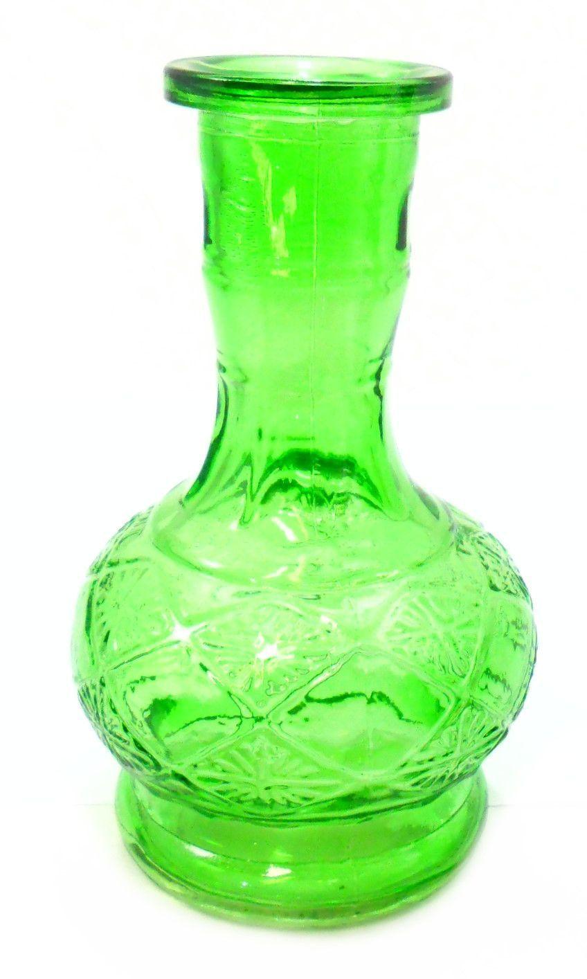 Vaso/base para narguile. 20cm altura e 3,7cm diâmetro do encaixe. Verde