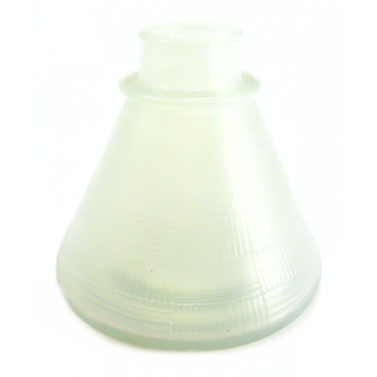 Vaso/Base para narguile base larga encaixe macho, 11cm alt. P/stems Judith, Triton, Amazon, Mya, etc Branco (pequena def