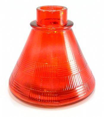 Vaso/Base para narguile base larga encaixe macho, 11cm alt. P/stems Judith, Triton, Amazon, Mya, etc Vermelho