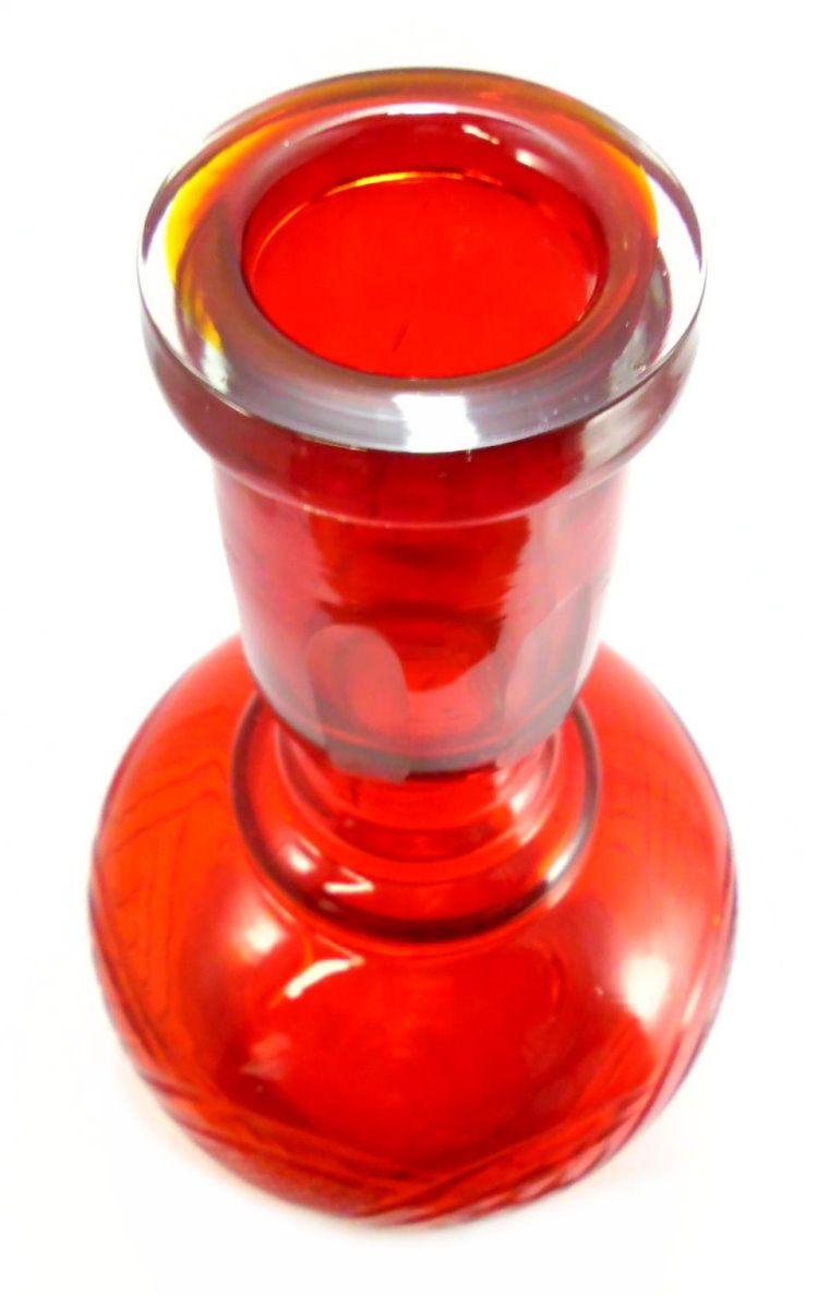 Vaso/Base para narguile EM CRISTAL, formato JUMBO, desenhos lapidados a laser. 34,5cm alt, pesado.