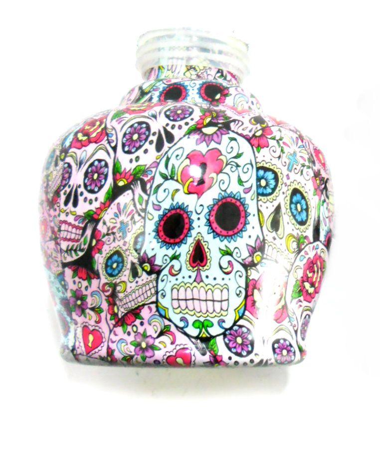 Vaso/base para narguile JUDITH (13cm) edição especial CAVEIRA MEXICANA (LA CATRINA).