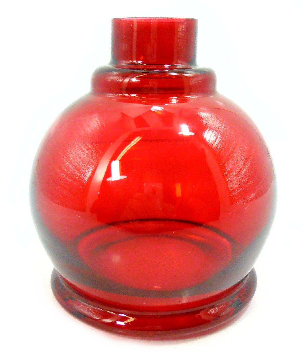 Vaso/base para narguile Luna Ball. 13cm altura e 3,8cm diâmetro de bocal. Encaixe macho (interno).
