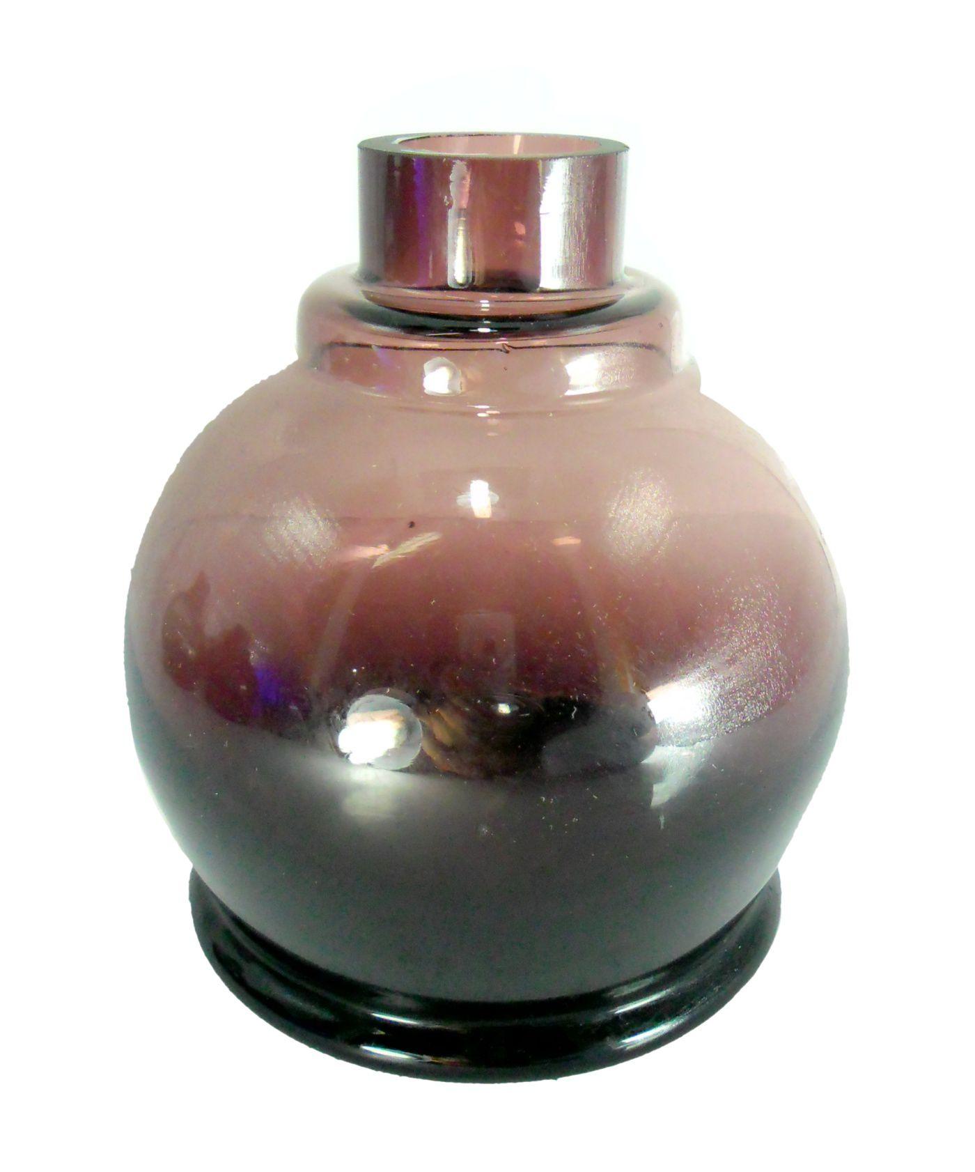 Vaso/base para narguile Luna Ball. 13cm altura e 3,8cm diâmetro de bocal. Encaixe macho (interno). Lilás
