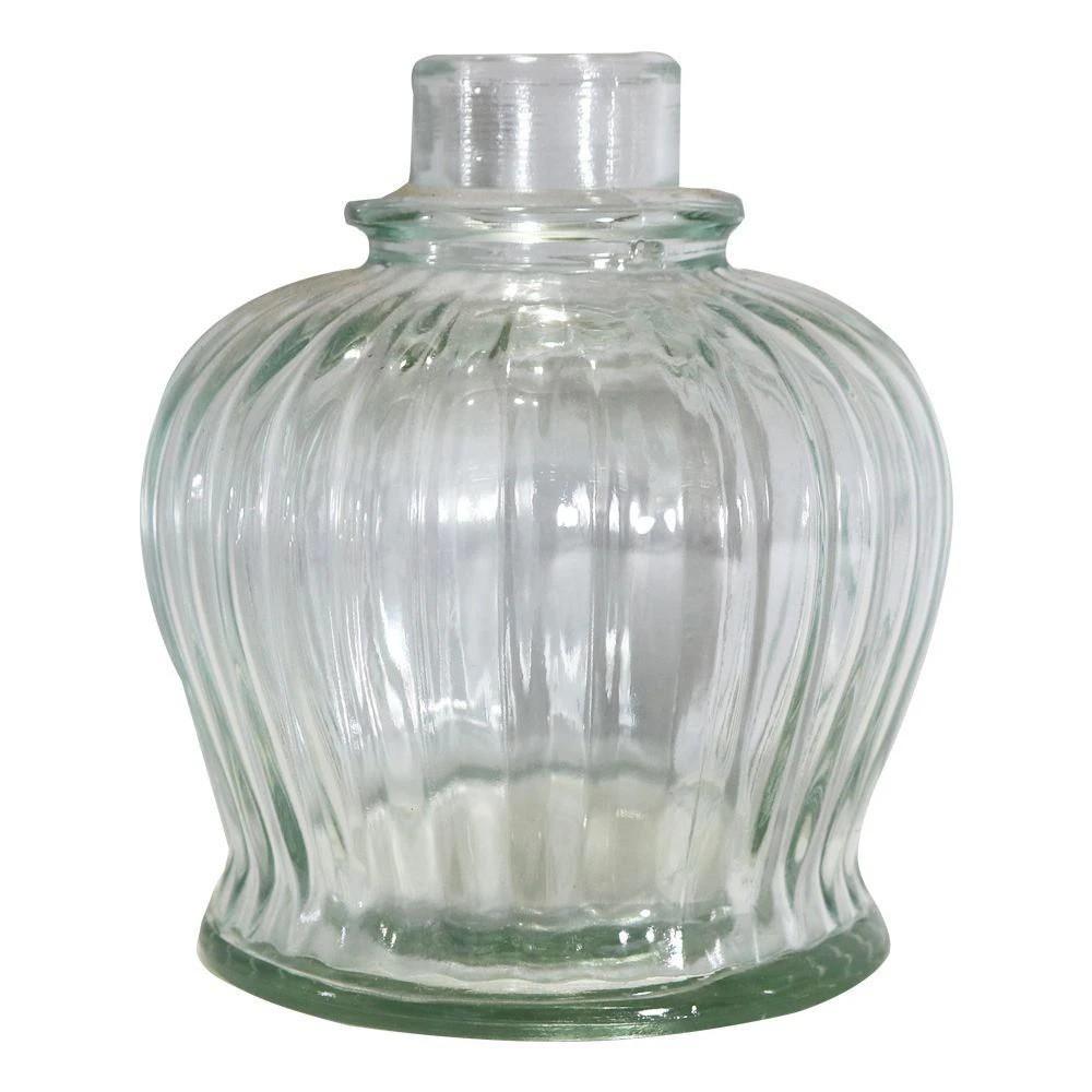 Vaso/base para narguile marca CHAMMA modelo QT. 13,5cm altura x 13cm larg. Encaixe macho (interno).