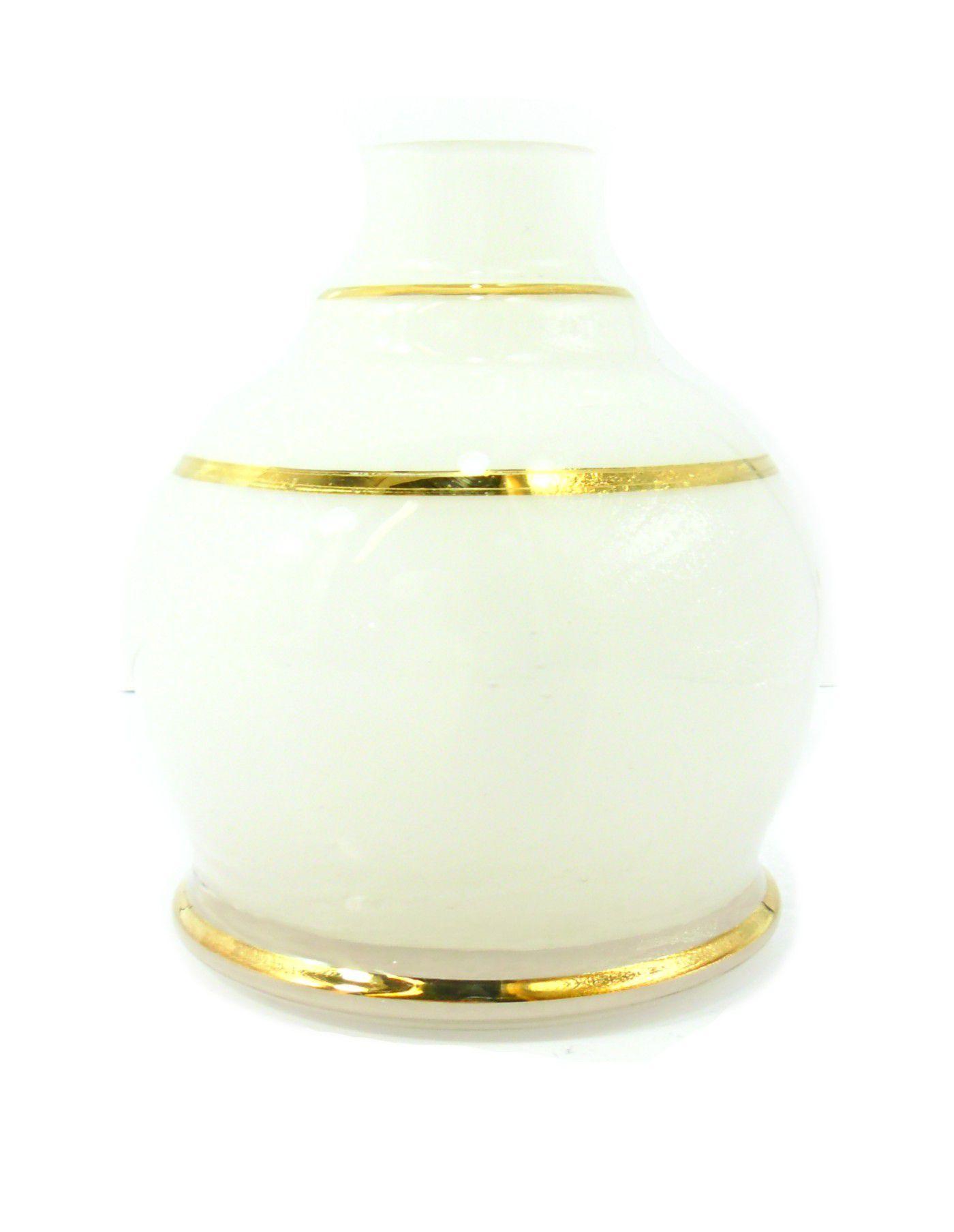 Vaso/base para narguile Shisha Glass (13cm), modelo BALL. Encaixe macho (interno).
