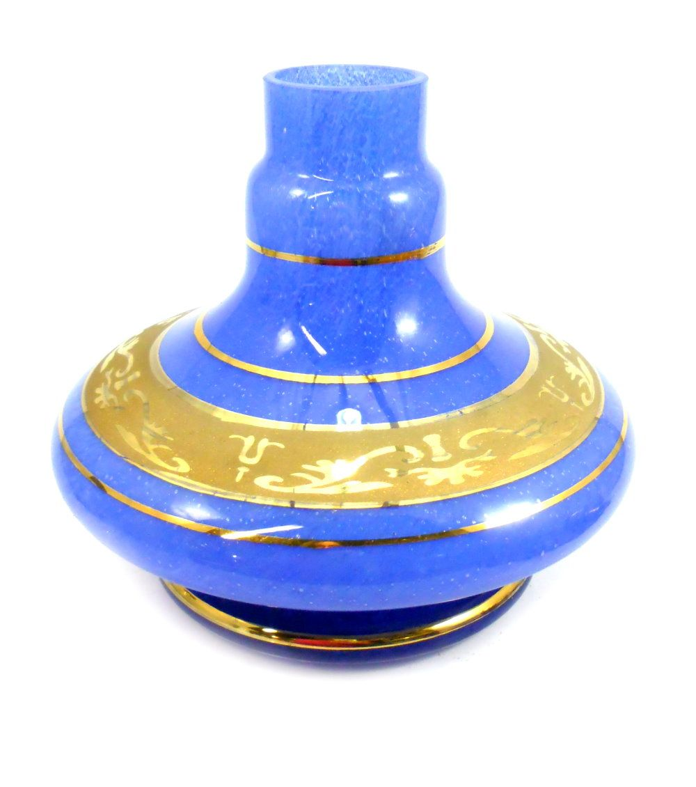 Vaso/base para narguile Shisha Glass (14cm), modelo GÊNIO/ALADIN. Encaixe macho.