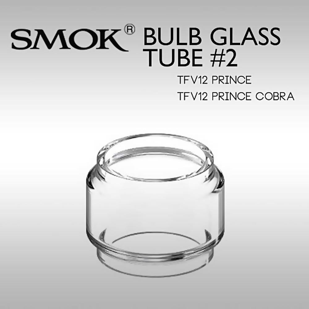 Vidro para vaporizador Smok TFV12 Prince e TFV12 Prince Cobra Editon (BULB #2 de 8,0ml). 24,5mm diâm X 24,5mm alt.
