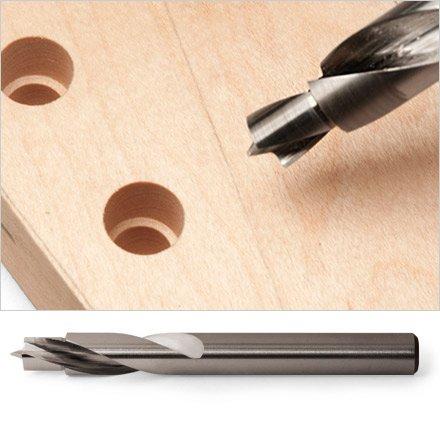 """Broca 2 """"passos"""" para instalação de tarraxa - 7mm/8,6mm - (Hosco)  - Luthieria Brasil"""