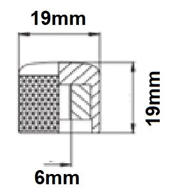 Knob Metal Preto de Pressão (Encaixe)  - Luthieria Brasil