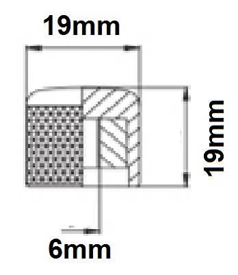 Knob Metal Cromado de Pressão (Encaixe)  - Luthieria Brasil