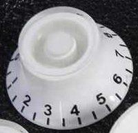 Knob Semi Acústica Plástico Translúcido Branco  - Luthieria Brasil