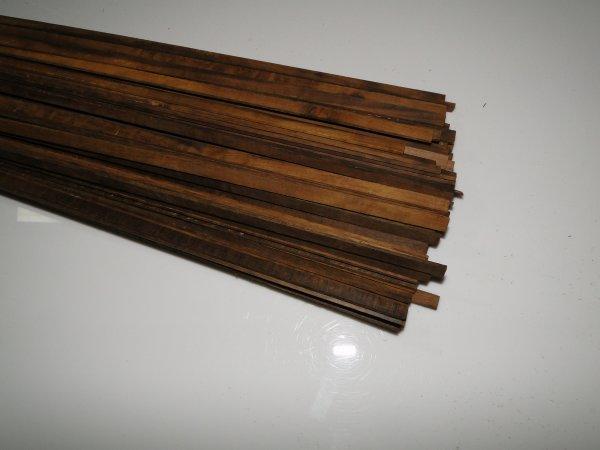 Binding (filete) em madeira Imbuia (Tipo 1)  - 80cm x 7mm x 1,8mm (2 peças)  - Luthieria Brasil