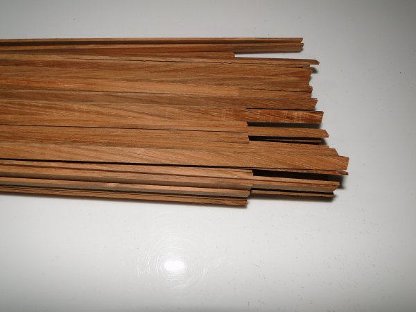 Binding (filete) em madeira Jatobá - 80cm x 7mm x 1,8mm (2 peças)  - Luthieria Brasil