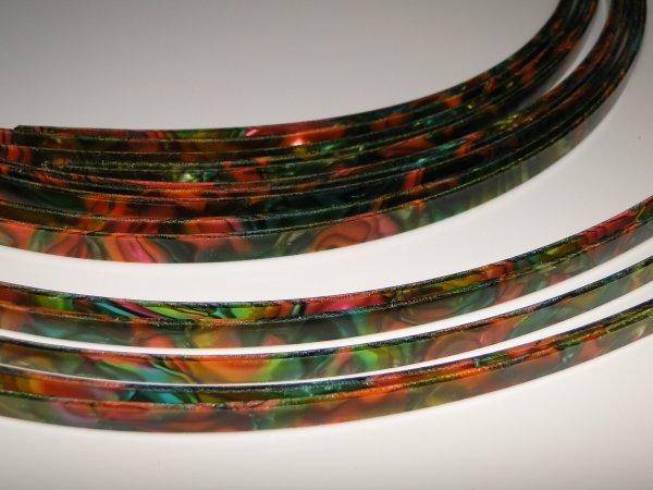 "Binding (filete) ""arco-íris""/perolado (160cm x 6mm x 1,5mm)  - Luthieria Brasil"
