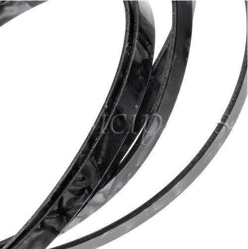 Binding (filete) preto perolado (160cm x 6mm x 1,5mm)  - Luthieria Brasil