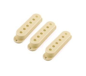 Capa para captador single creme de plástico - Spirit - Kit com 3 unidades  - Luthieria Brasil