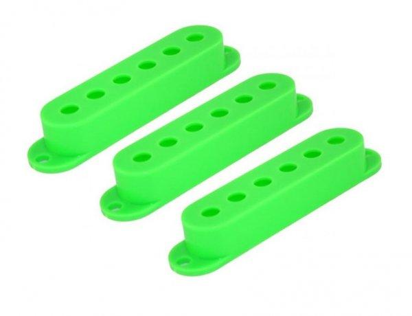 Capa para captador single verde de plástico - Spirit - Kit com 3 unidades  - Luthieria Brasil