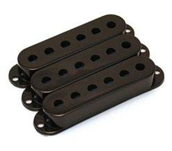 Capa para captador single preta de plástico - Spirit - Kit com 3 unidades  - Luthieria Brasil