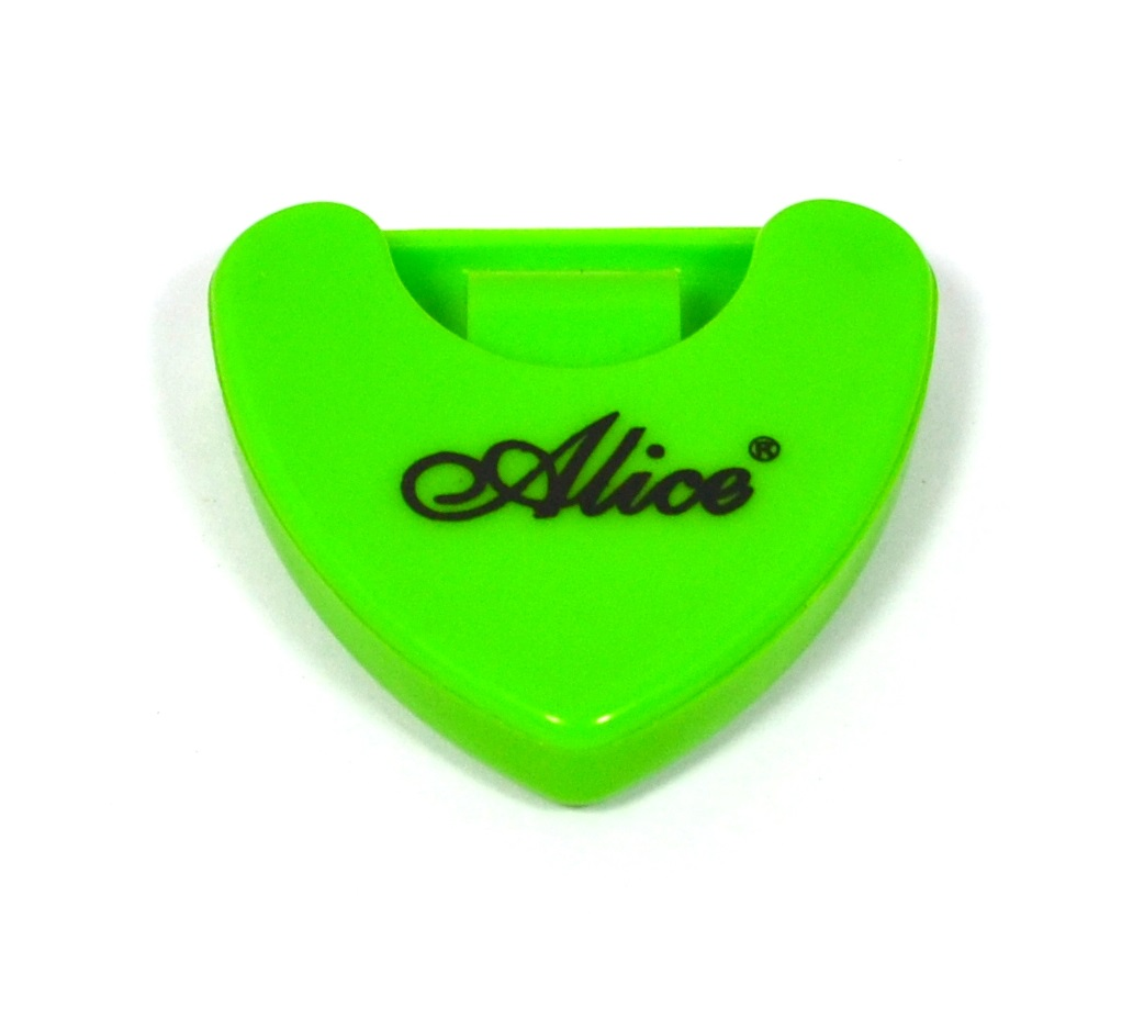 Porta palheta auto-adesivo de plástico para instrumentos de corda - Cor Verde - Alice (A010A)  - Luthieria Brasil