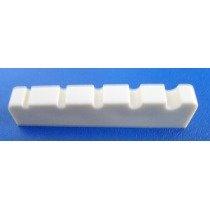 Nut de plástico cor branca para Baixo 5 cordas (44.9mm x 6.0mm x 8.9/7.8mm)  - Luthieria Brasil