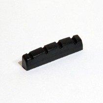 Nut de plástico cor preta para Baixo 5 cordas (44.9mm x 6.0mm x 8.9/7.8mm)  - Luthieria Brasil