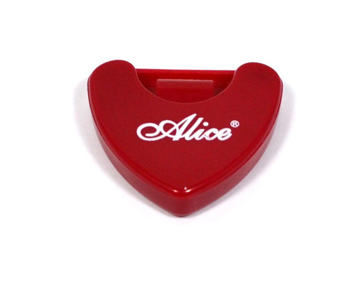 Porta palheta auto-adesivo de plástico para instrumentos de corda - Cor Vermelha - Alice (A010A)  - Luthieria Brasil